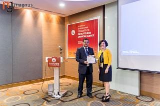 Farhan Ahmad Pasha Felicitated by Carolina Belver