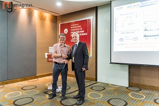 P. Hubert Mutin Felicitated by Stanislaw Dzwigaj