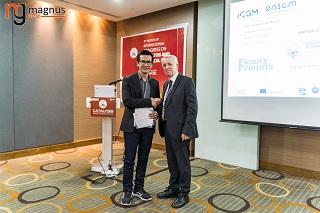 Quang Nguyen Tran Felicitated by Stanislaw Dzwigaj