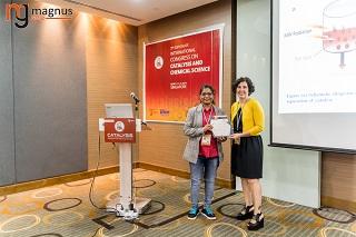 Sandhya Mishra Felicitated by Carolina Belver