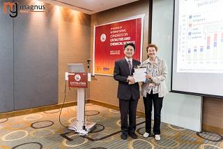 Tsuyoshi Ochiai Felicitated by Maya Kiskinova