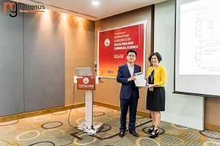 Xiaoqian Wang Felicitated by Carolina Belver